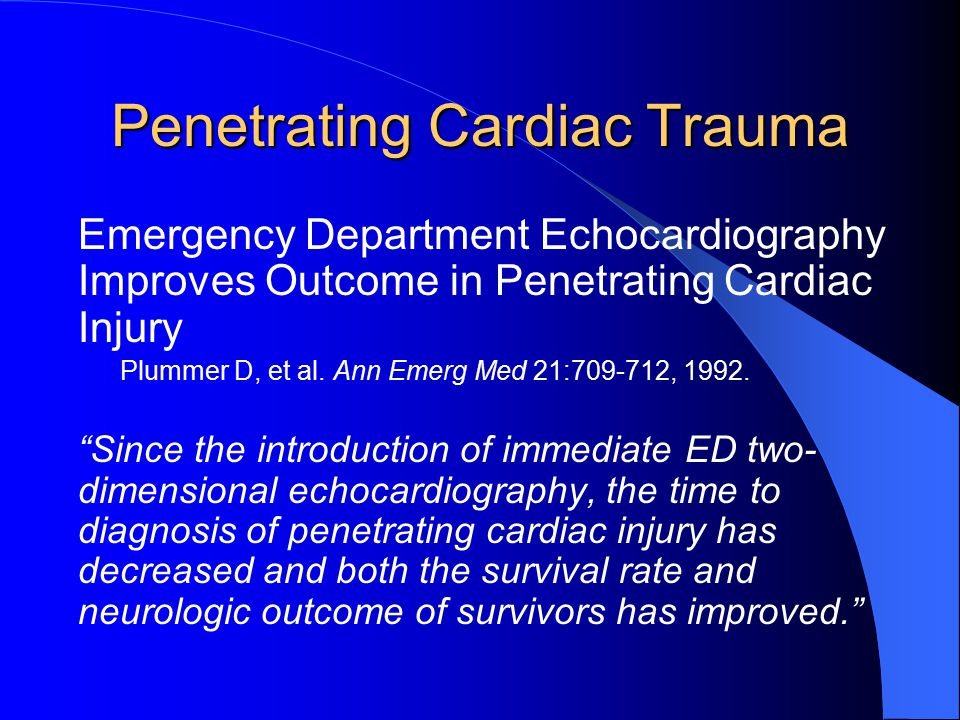 Penetrating Cardiac Trauma