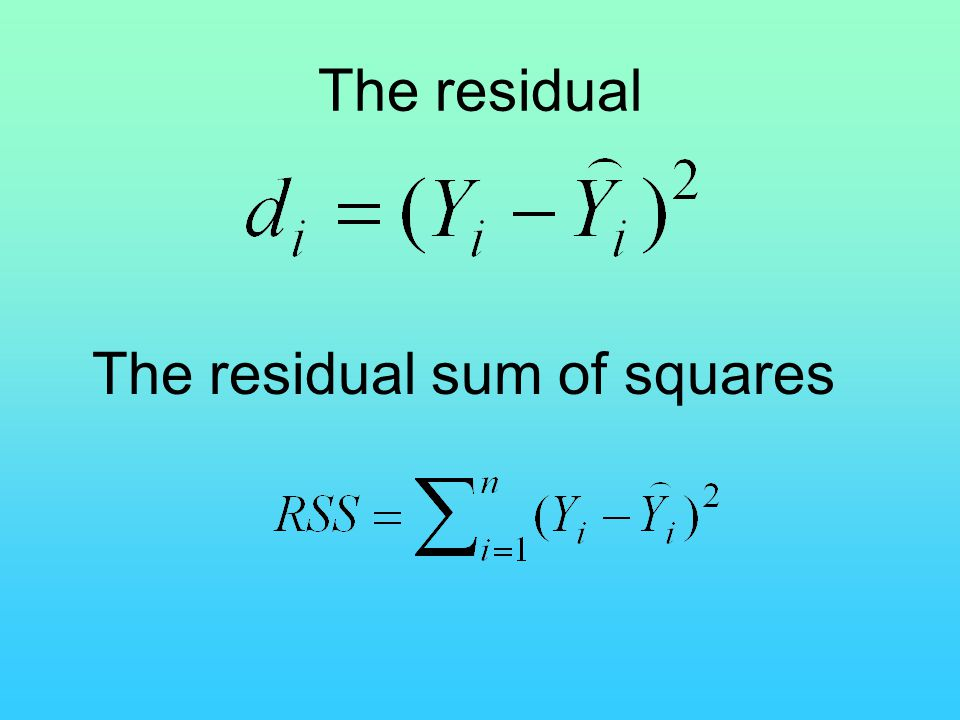 The residual sum of squares
