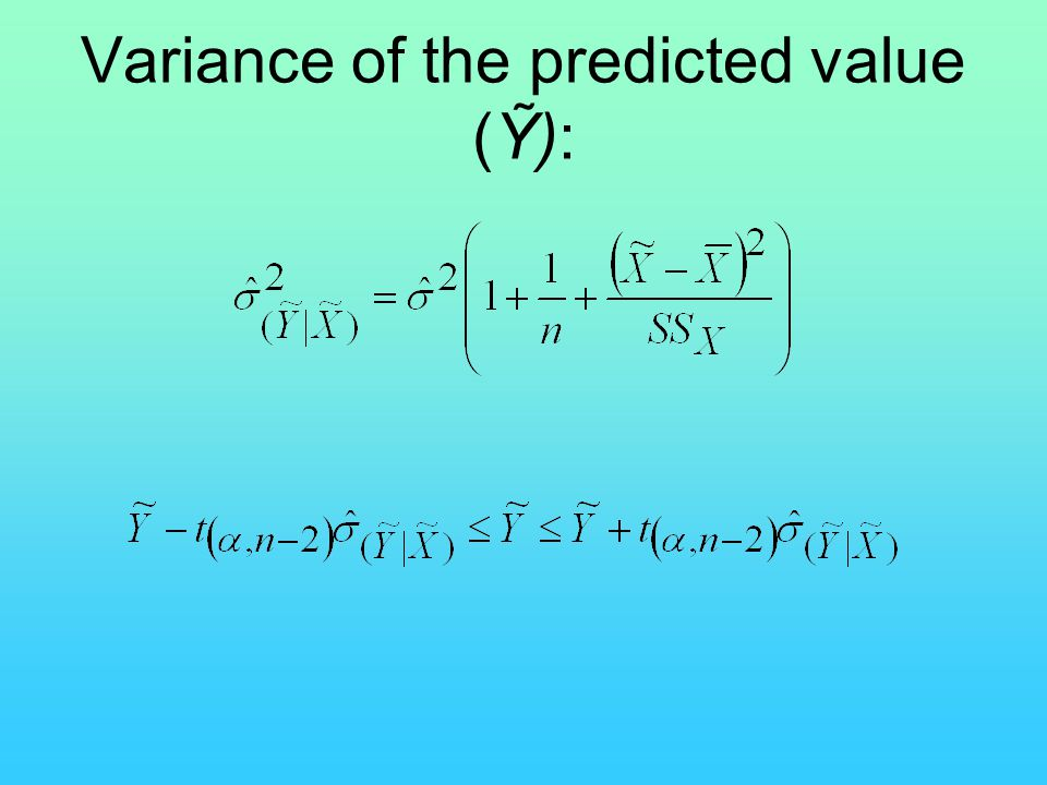 Variance of the predicted value (Ỹ):