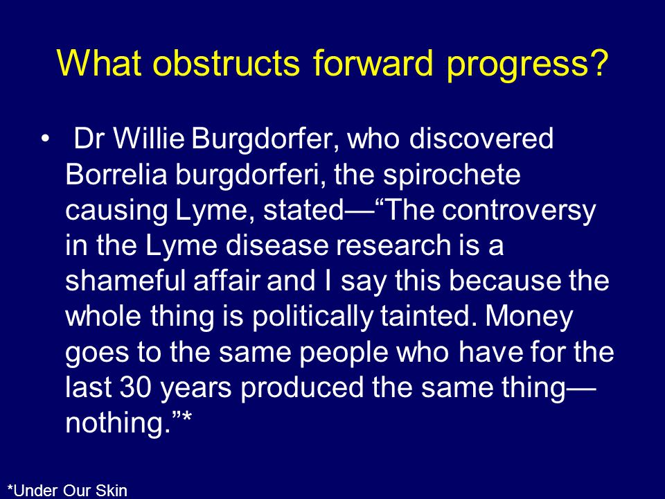 What obstructs forward progress