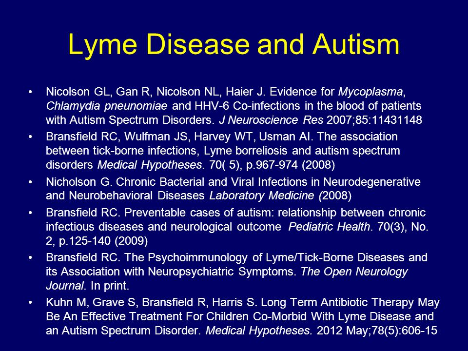 Lyme Disease and Autism