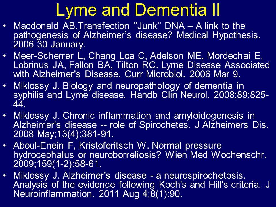 Lyme and Dementia II