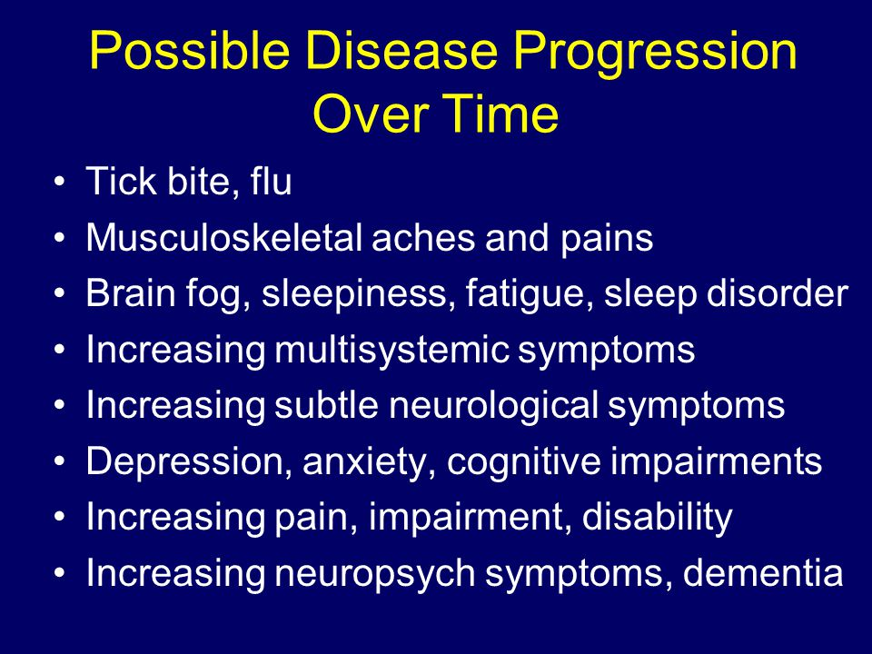 Possible Disease Progression Over Time
