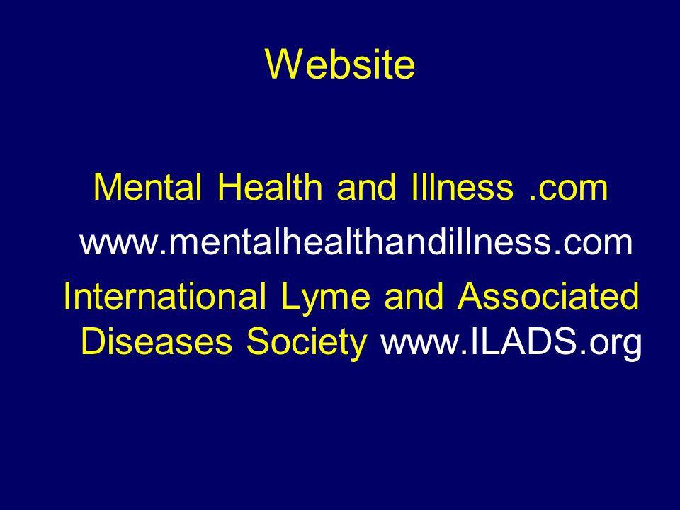 Website Mental Health and Illness .com www.mentalhealthandillness.com