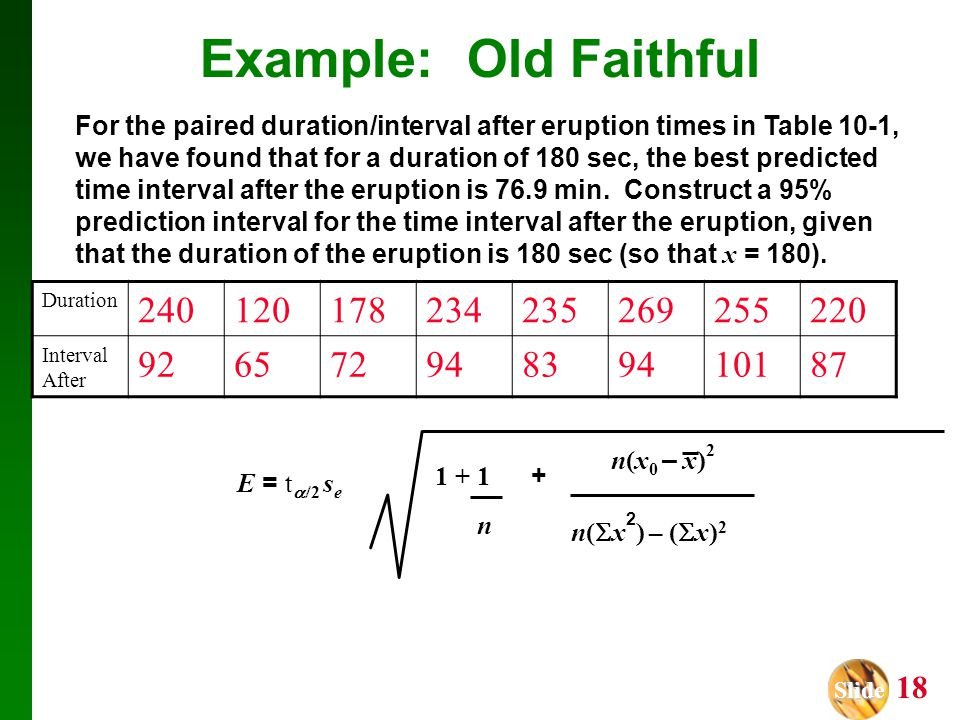 Example: Old Faithful