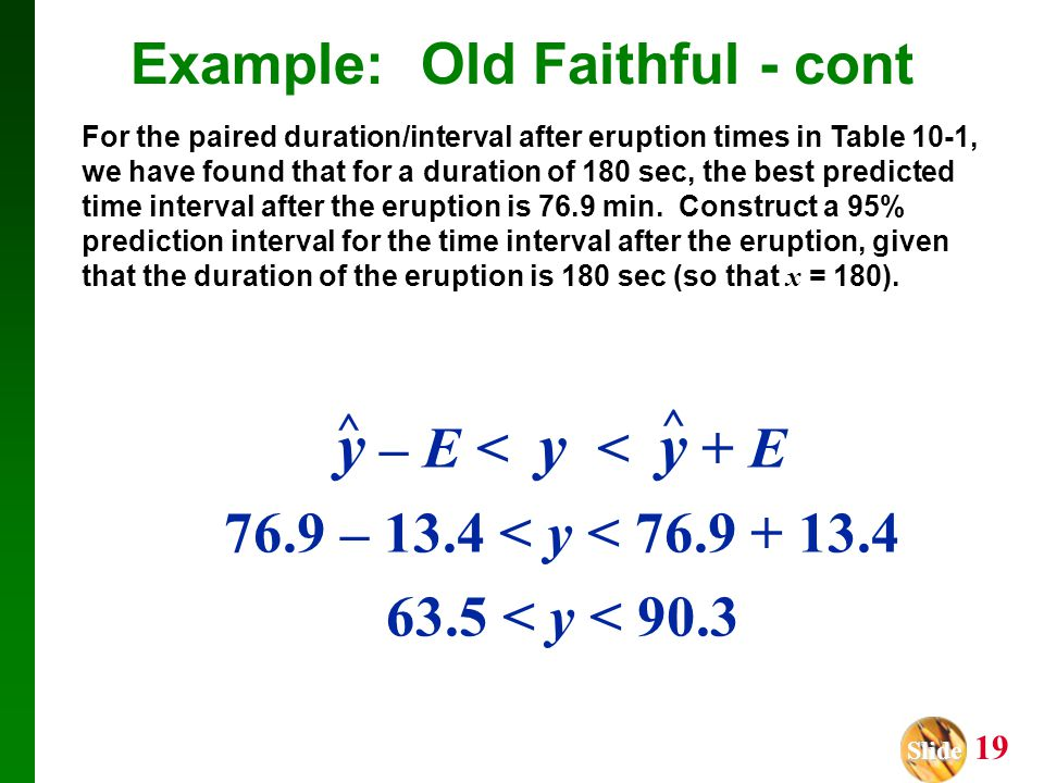Example: Old Faithful - cont