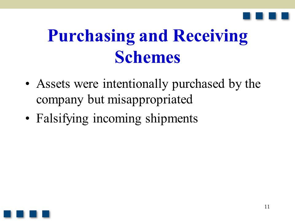 Purchasing and Receiving Schemes