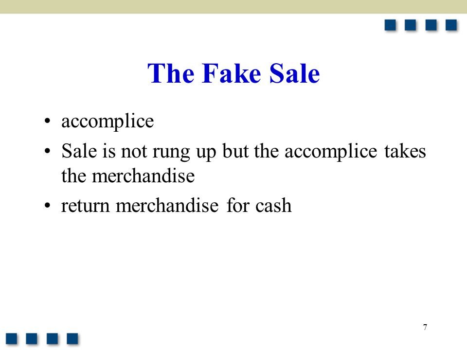 The Fake Sale accomplice
