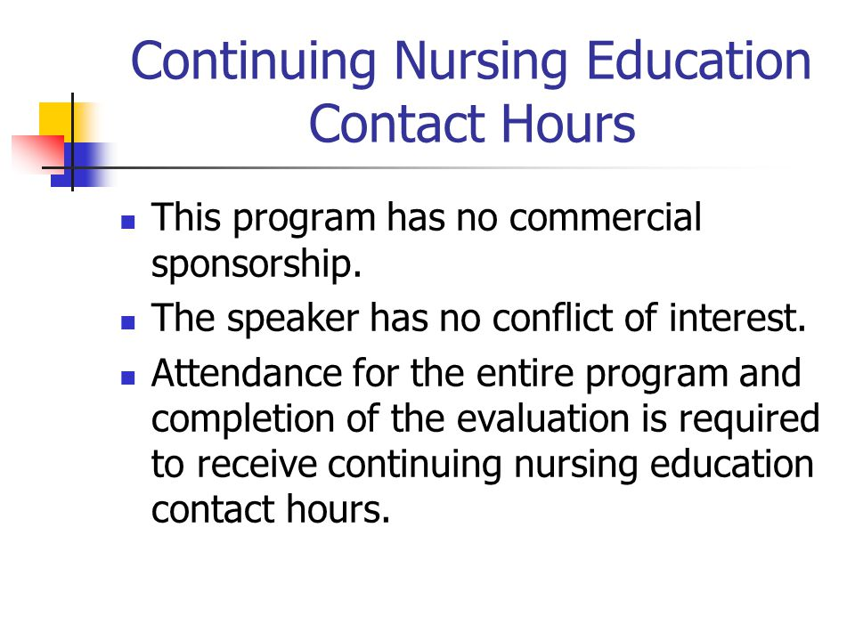 Continuing Nursing Education Contact Hours