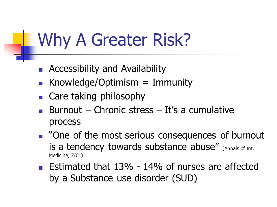 Why A Greater Risk Accessibility and Availability