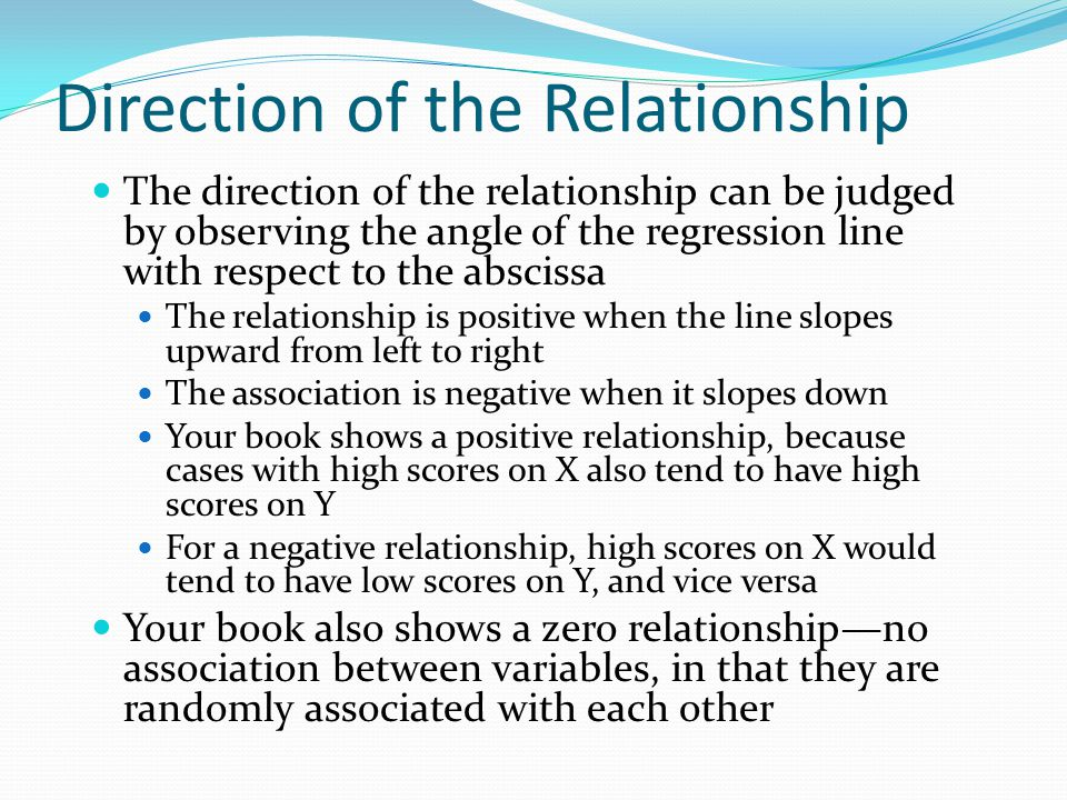 Direction of the Relationship