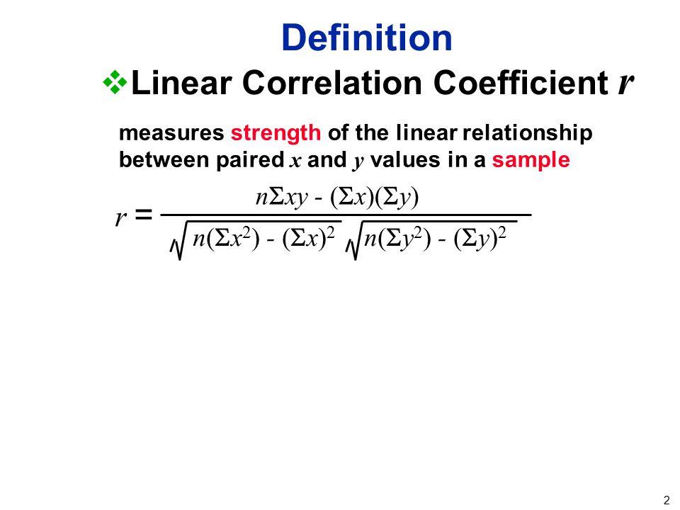 Linear Correlation Coefficient r
