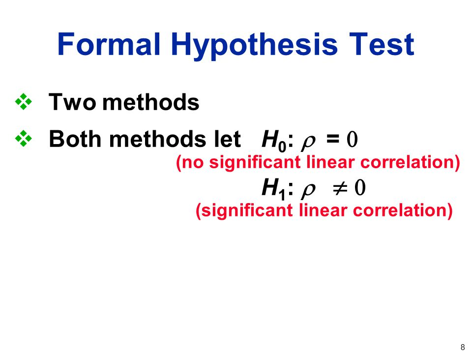 Formal Hypothesis Test