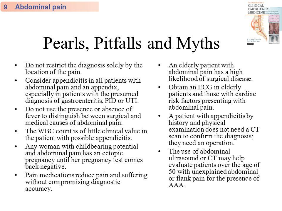 Pearls, Pitfalls and Myths