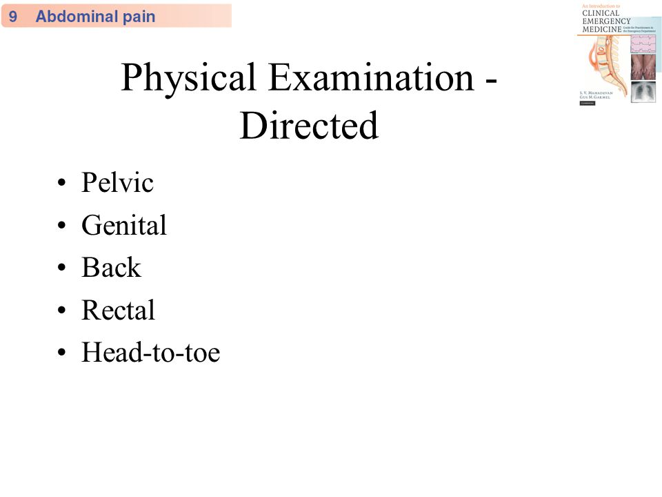 Physical Examination - Directed