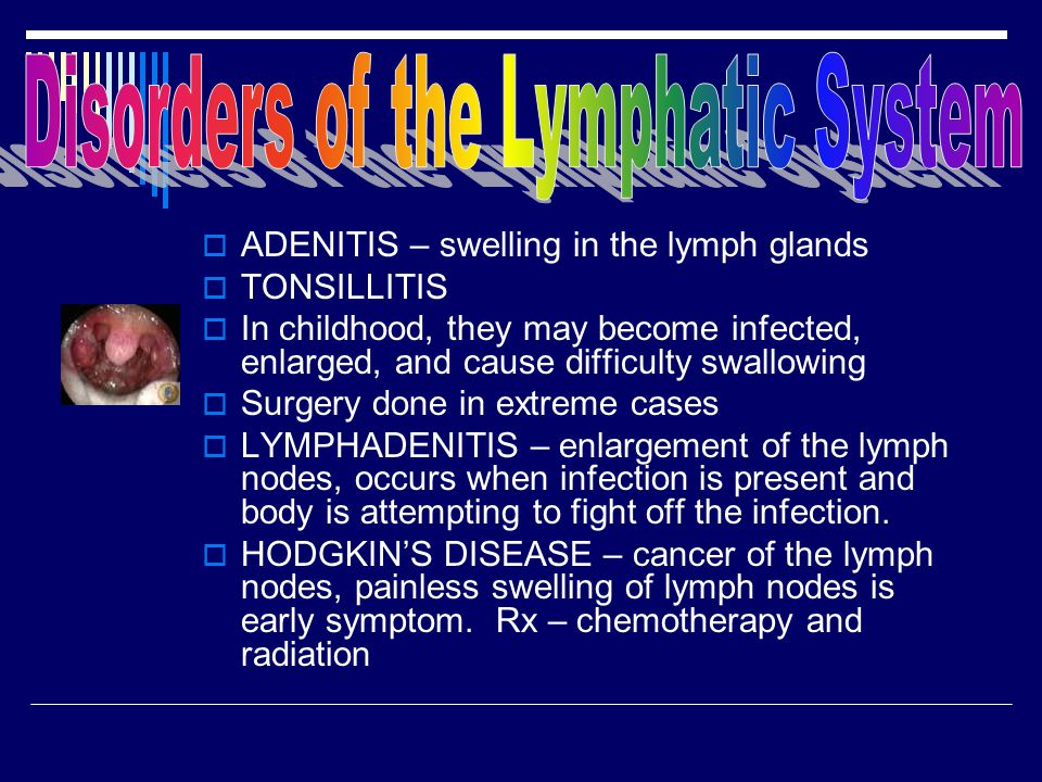 Disorders of the Lymphatic System