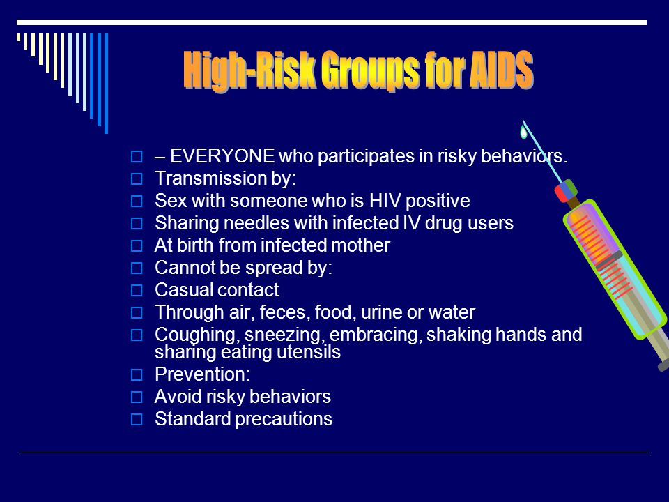 High-Risk Groups for AIDS