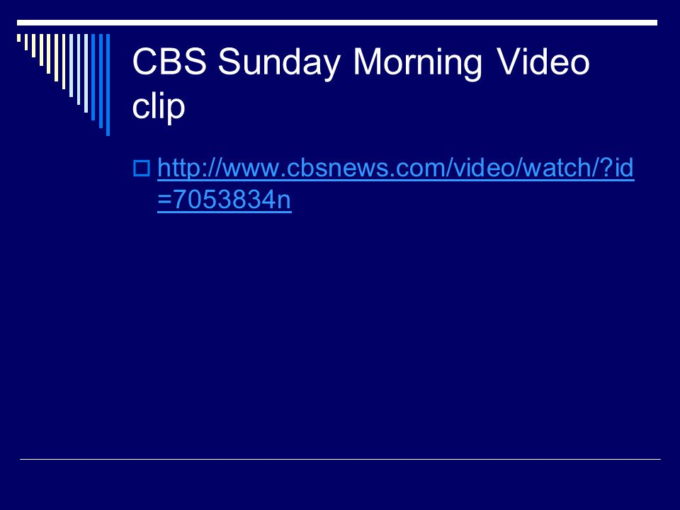 CBS Sunday Morning Video clip