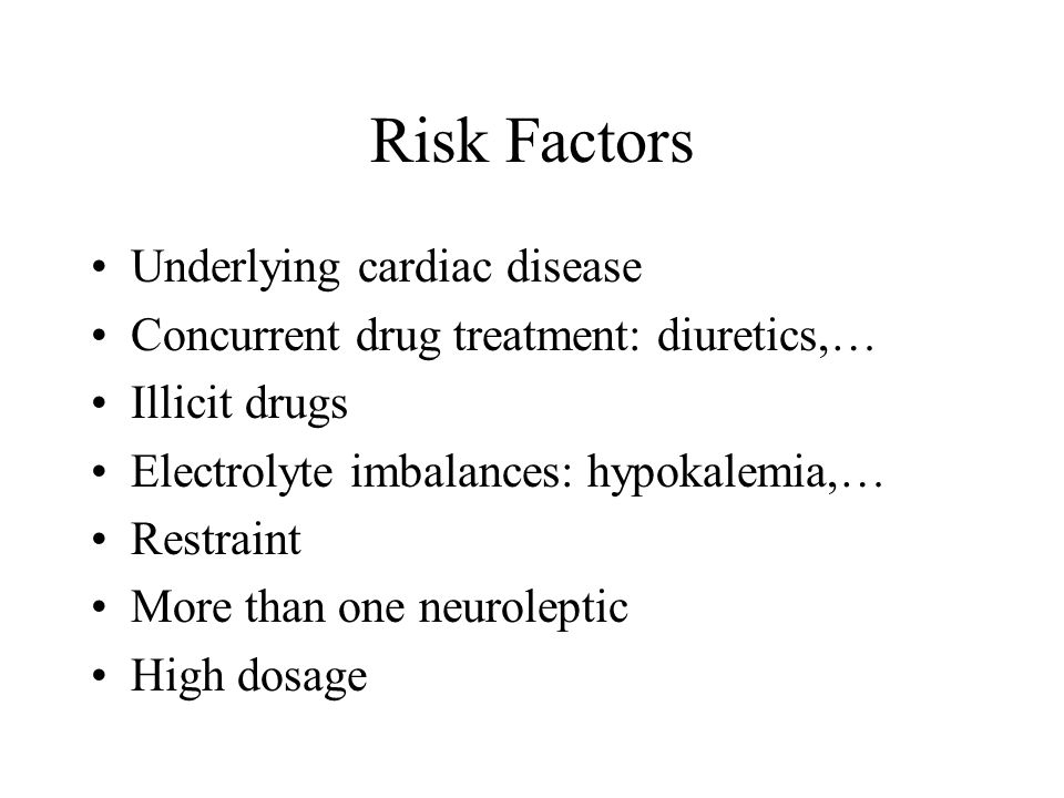 Risk Factors Underlying cardiac disease