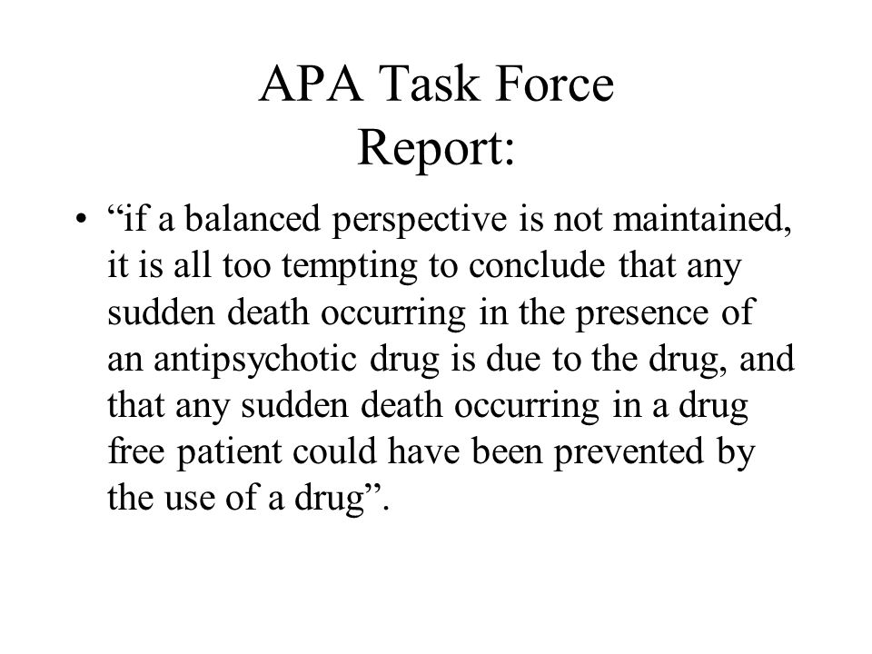 APA Task Force Report: