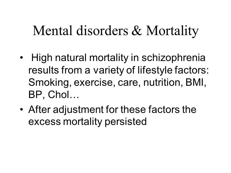Mental disorders & Mortality