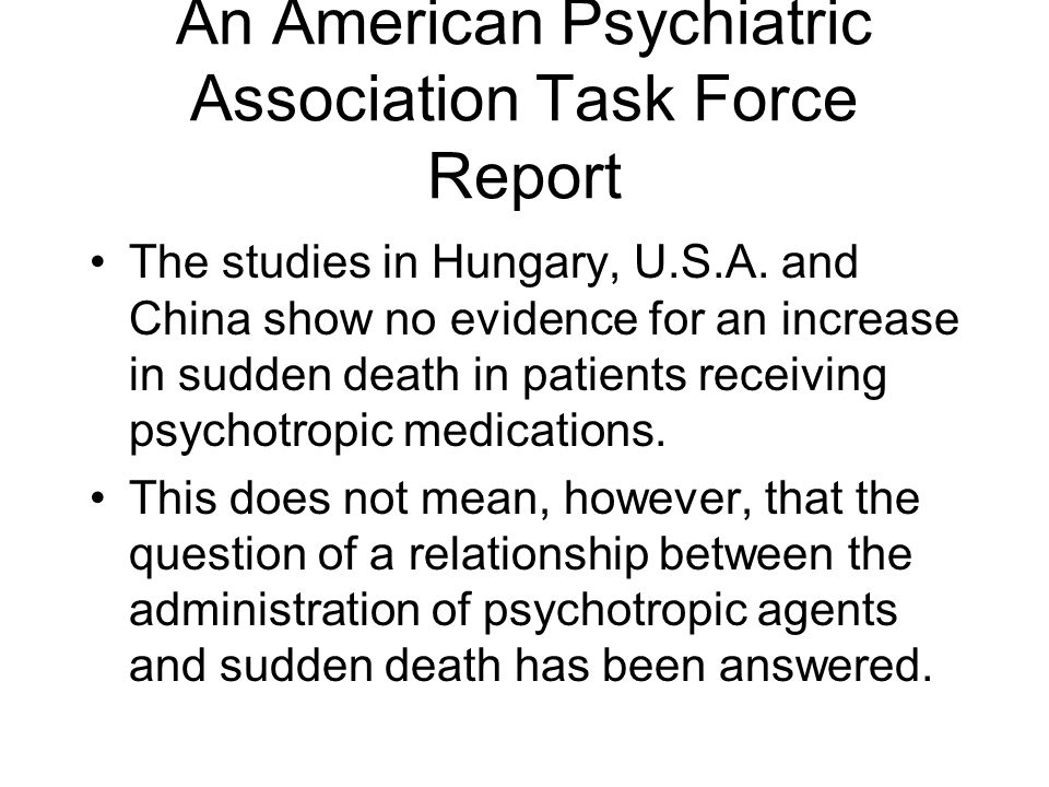 An American Psychiatric Association Task Force Report