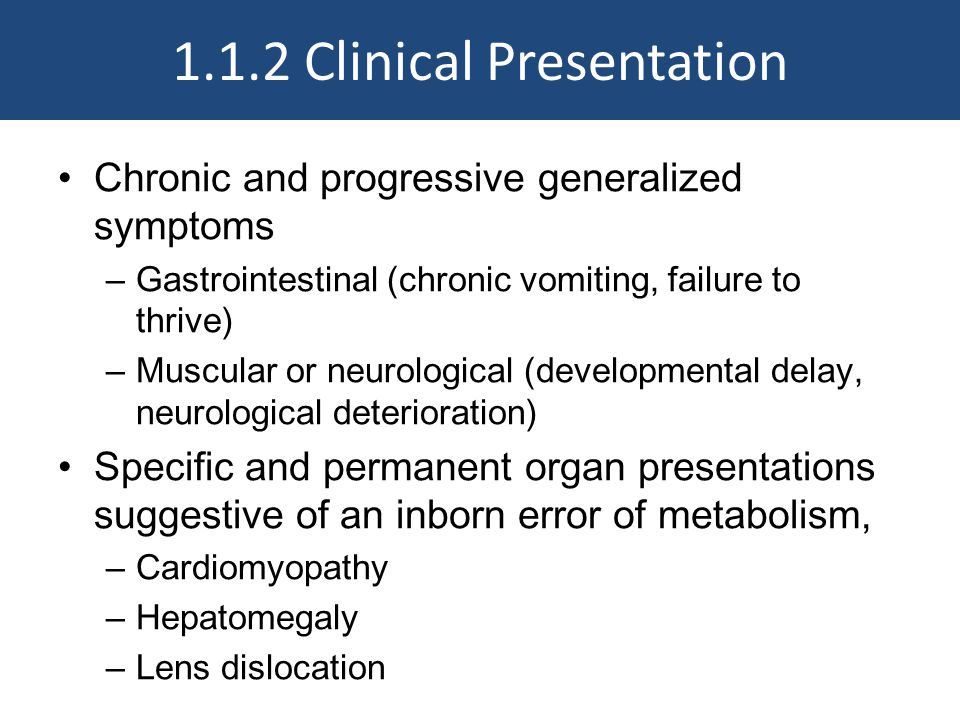 1.1.2 Clinical Presentation