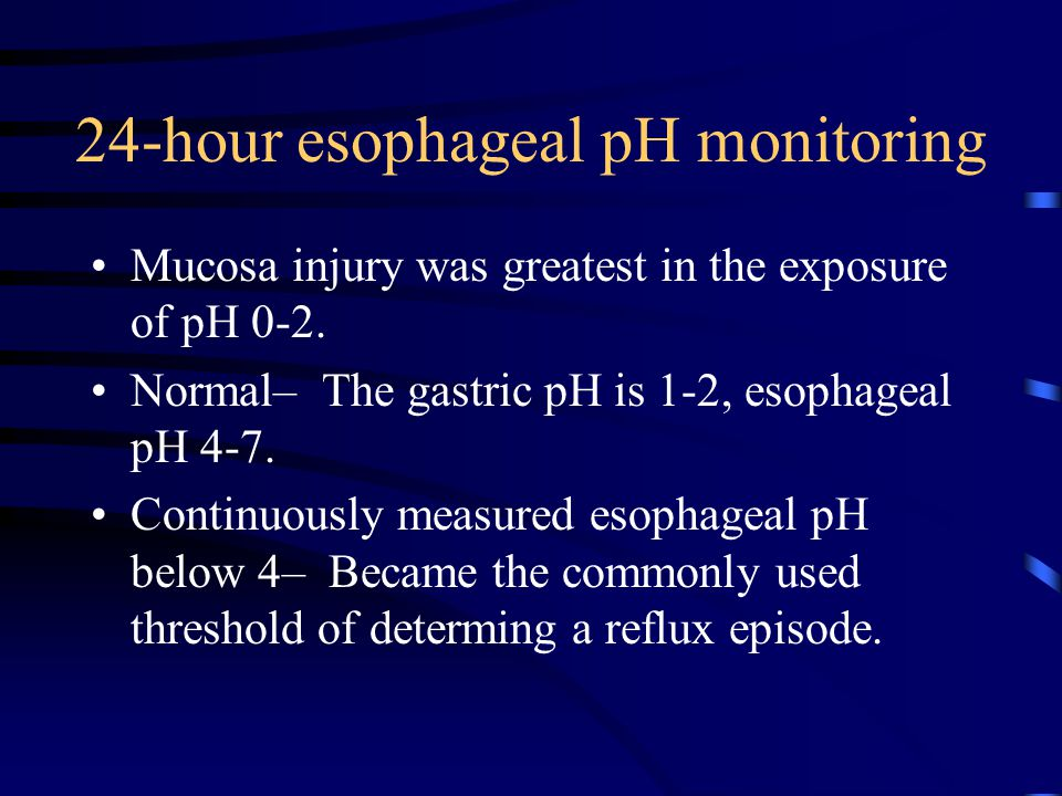 24-hour esophageal pH monitoring