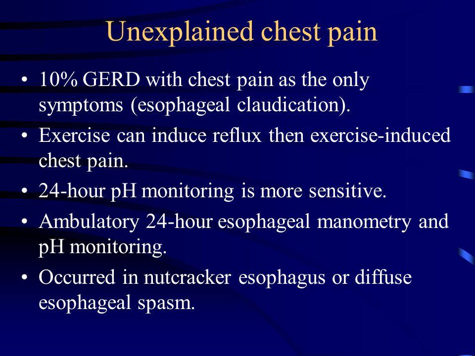 Unexplained chest pain