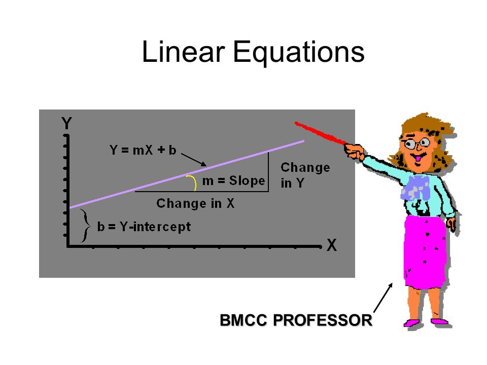 Linear Equations BMCC PROFESSOR