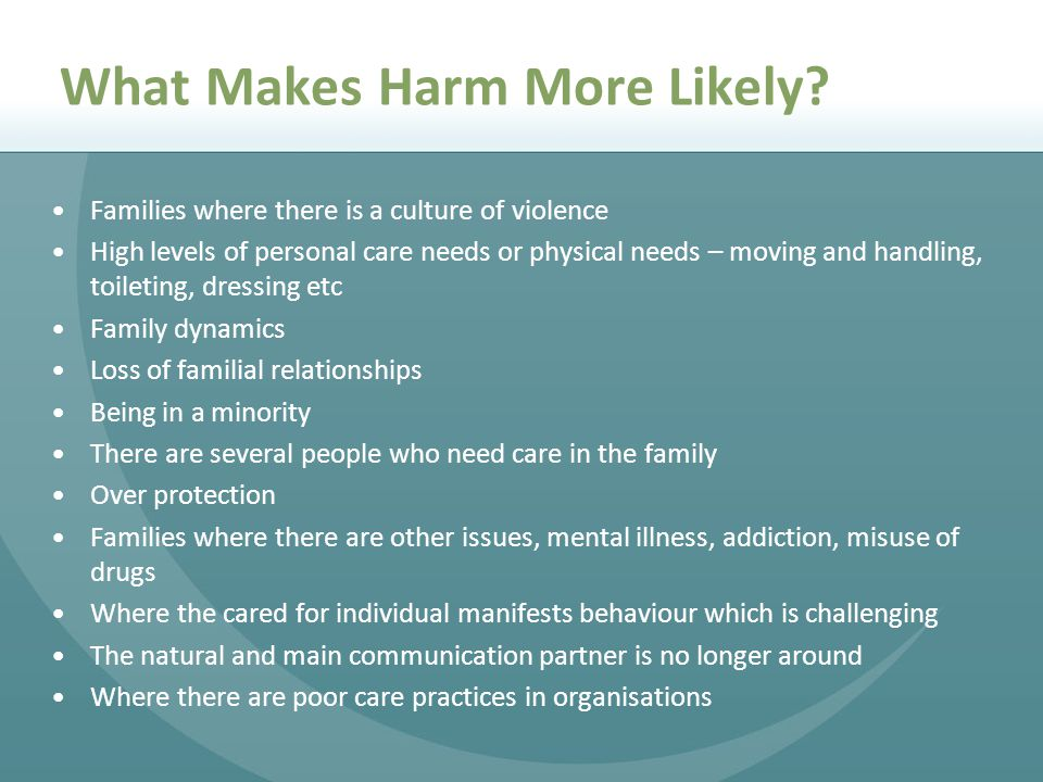 What Makes Harm More Likely