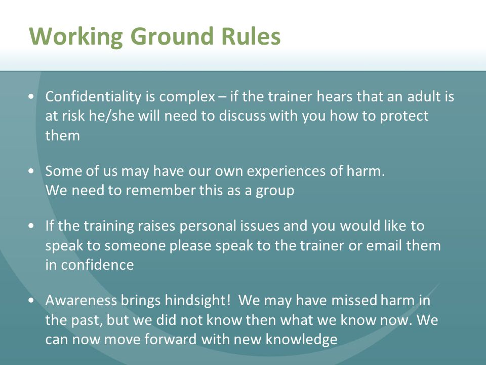 Working Ground Rules