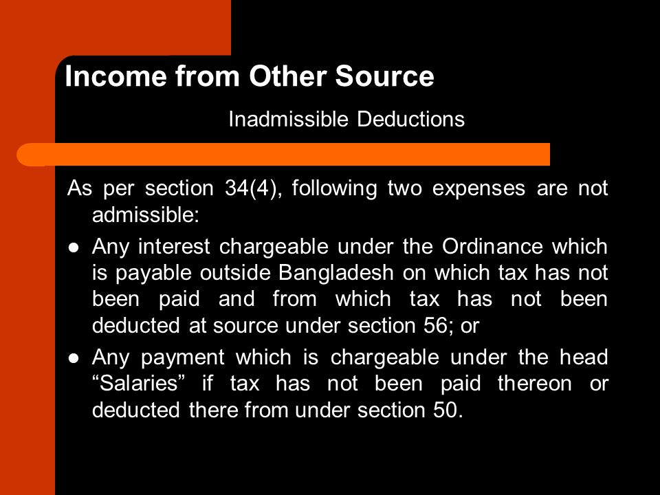 Income from Other Source