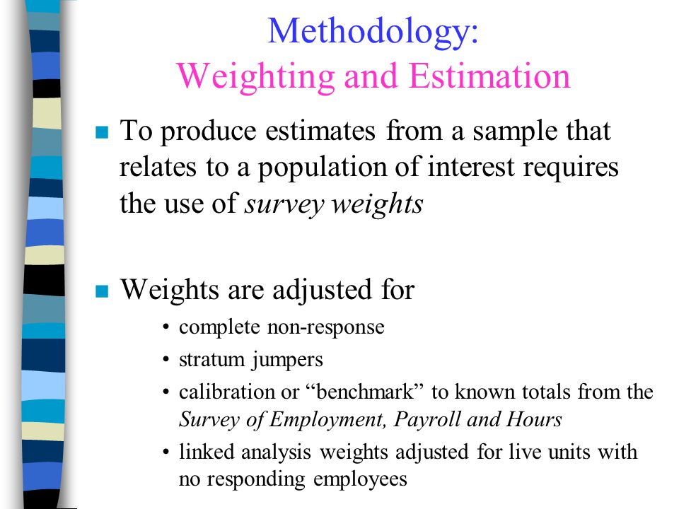 Methodology: Weighting and Estimation