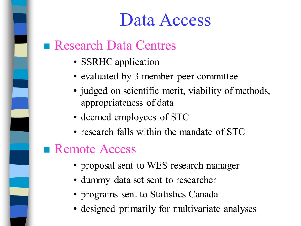 Data Access Research Data Centres Remote Access SSRHC application
