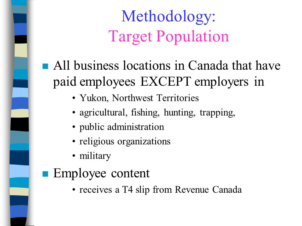 Methodology: Target Population