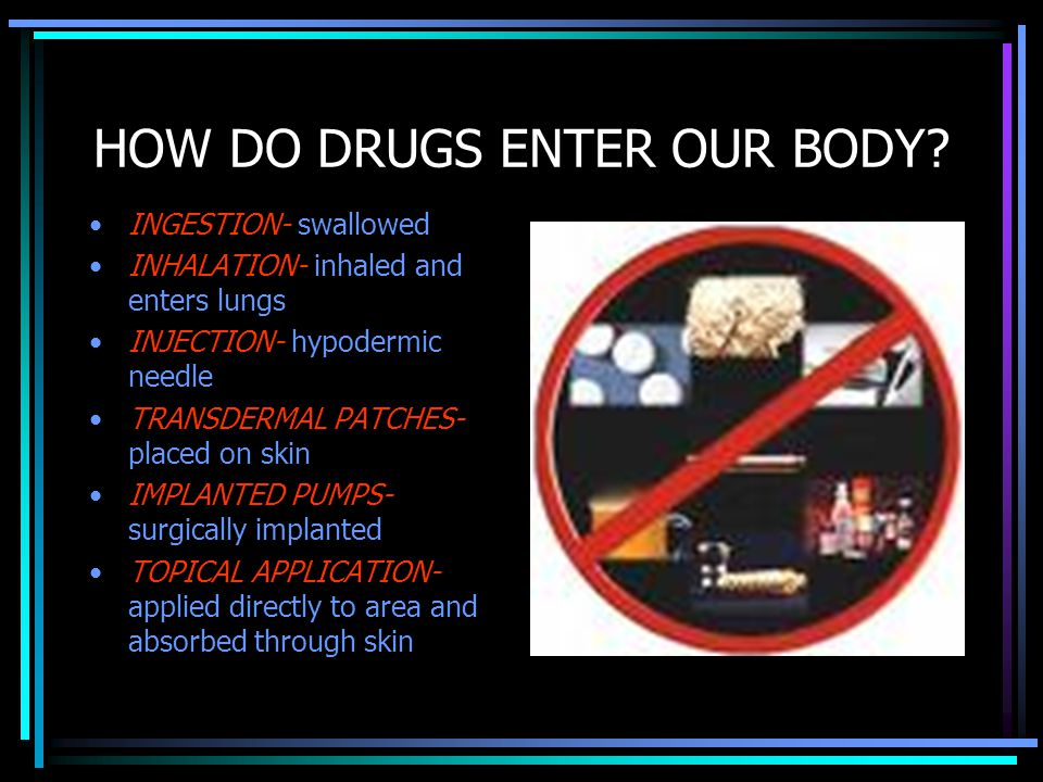 HOW DO DRUGS ENTER OUR BODY