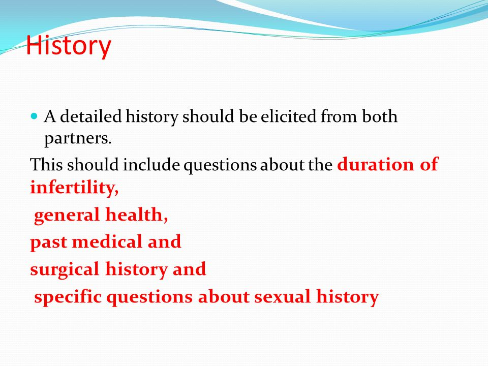 History general health, past medical and surgical history and