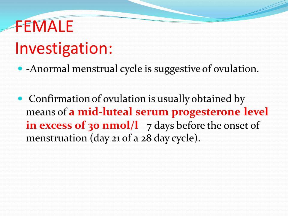 FEMALE Investigation: