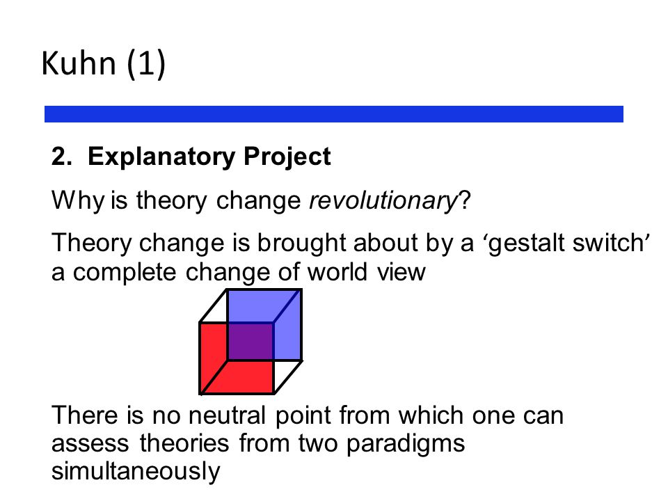 Kuhn (1) Explanatory Project Why is theory change revolutionary