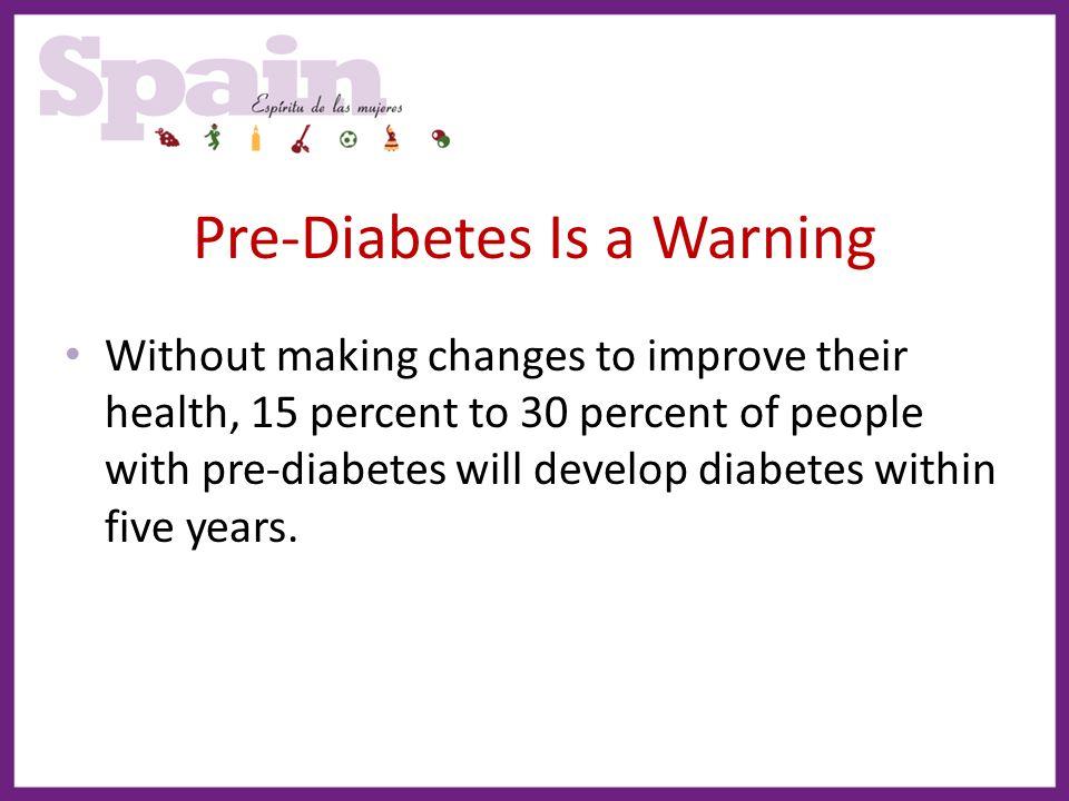 Pre-Diabetes Is a Warning