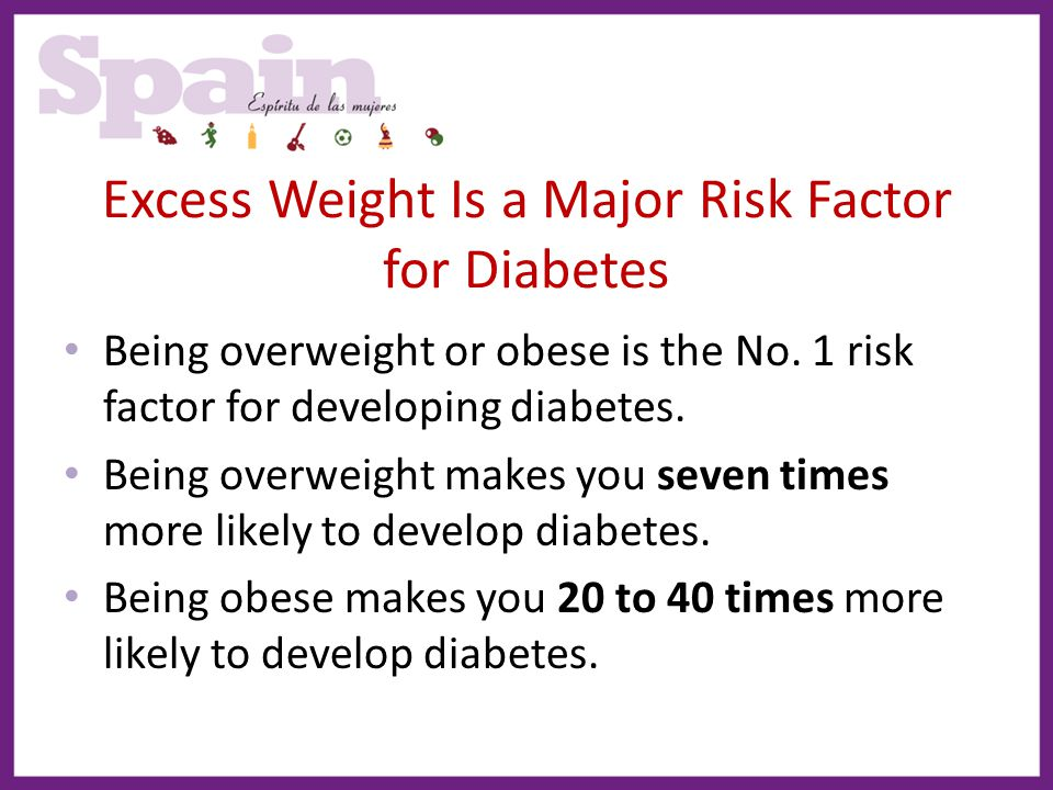 Excess Weight Is a Major Risk Factor for Diabetes