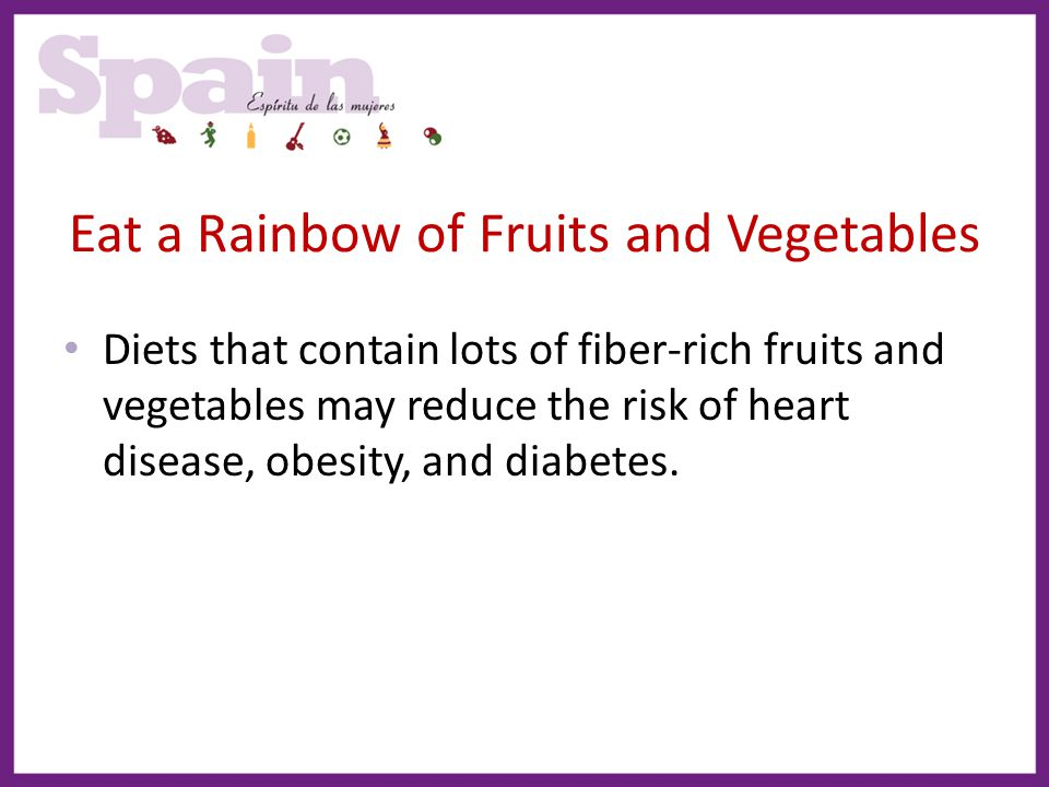 Eat a Rainbow of Fruits and Vegetables