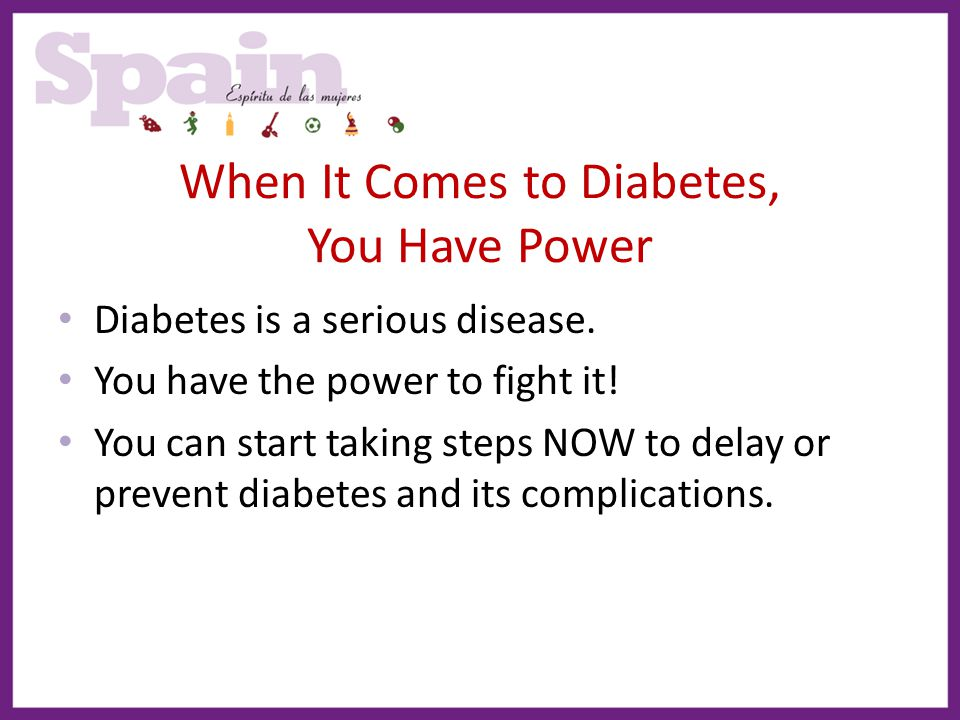 When It Comes to Diabetes, You Have Power