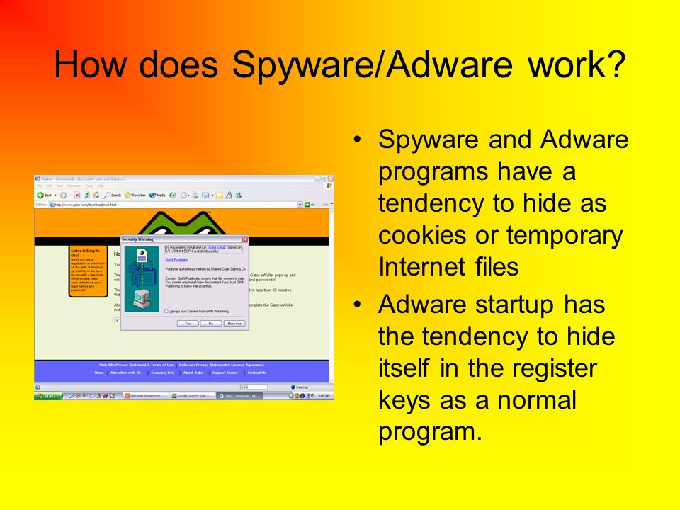 How does Spyware/Adware work