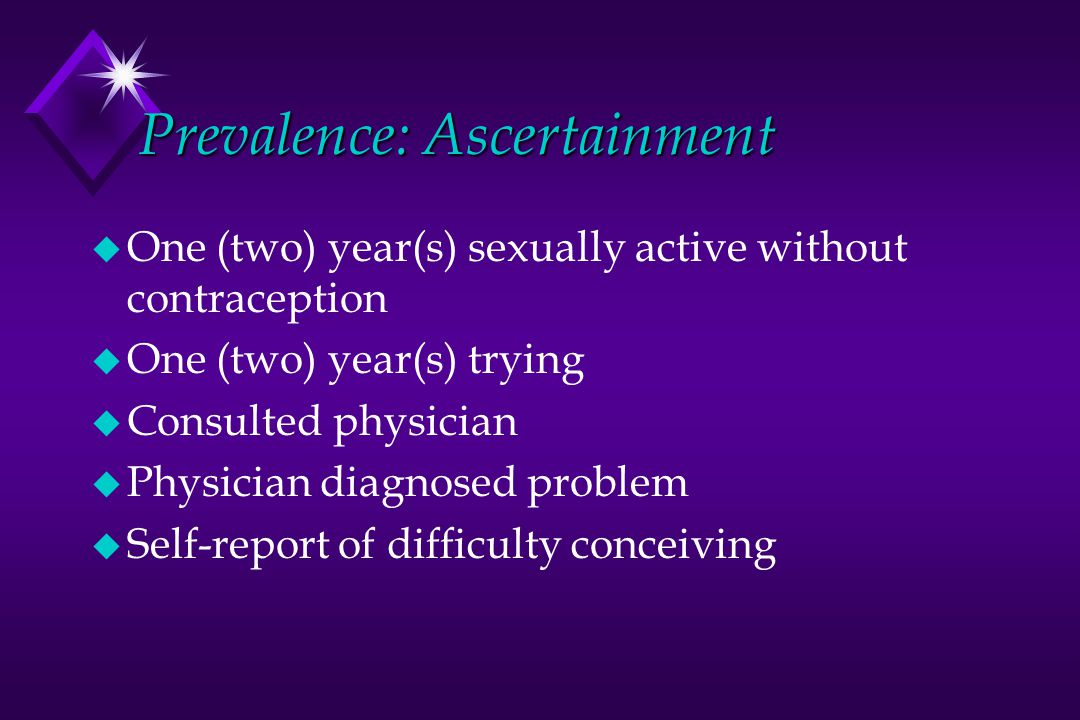 Prevalence: Ascertainment