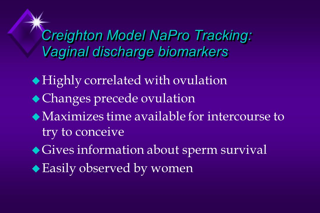 Creighton Model NaPro Tracking: Vaginal discharge biomarkers