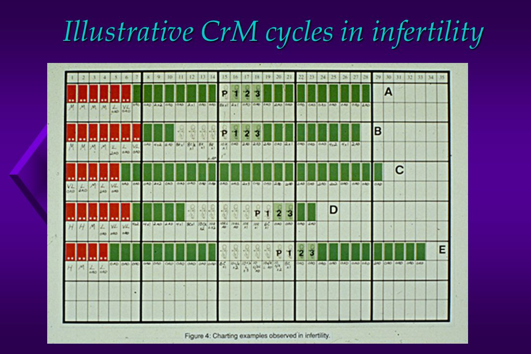 Illustrative CrM cycles in infertility