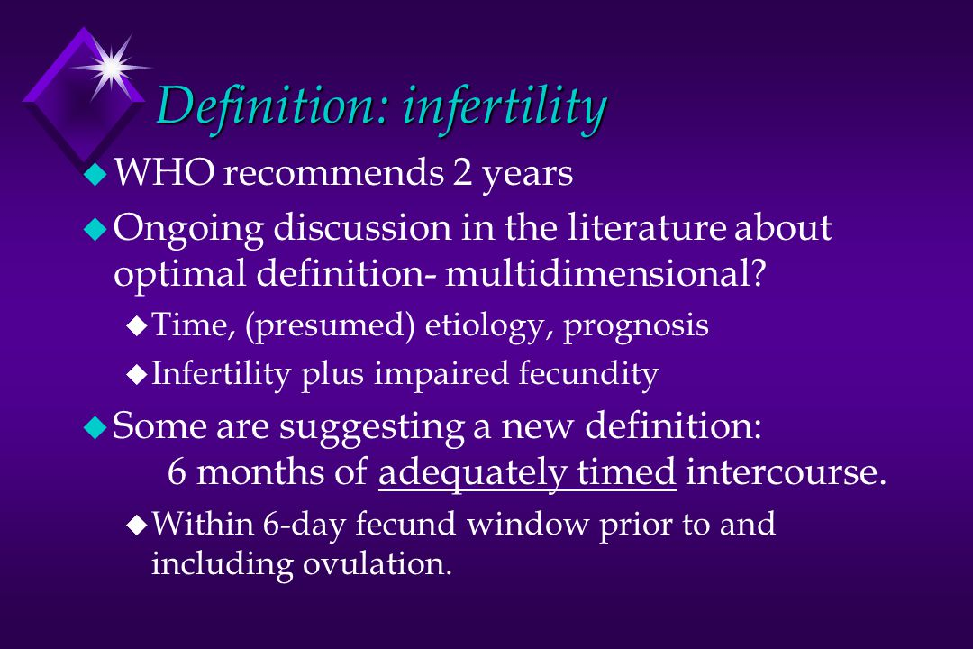 Definition: infertility