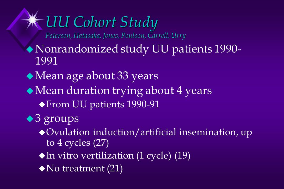 UU Cohort Study Peterson, Hatasaka, Jones, Poulson, Carrell, Urry